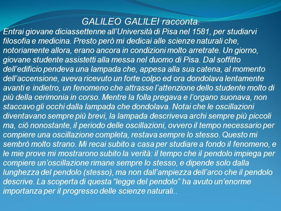 GALILEO GALILEI racconta: