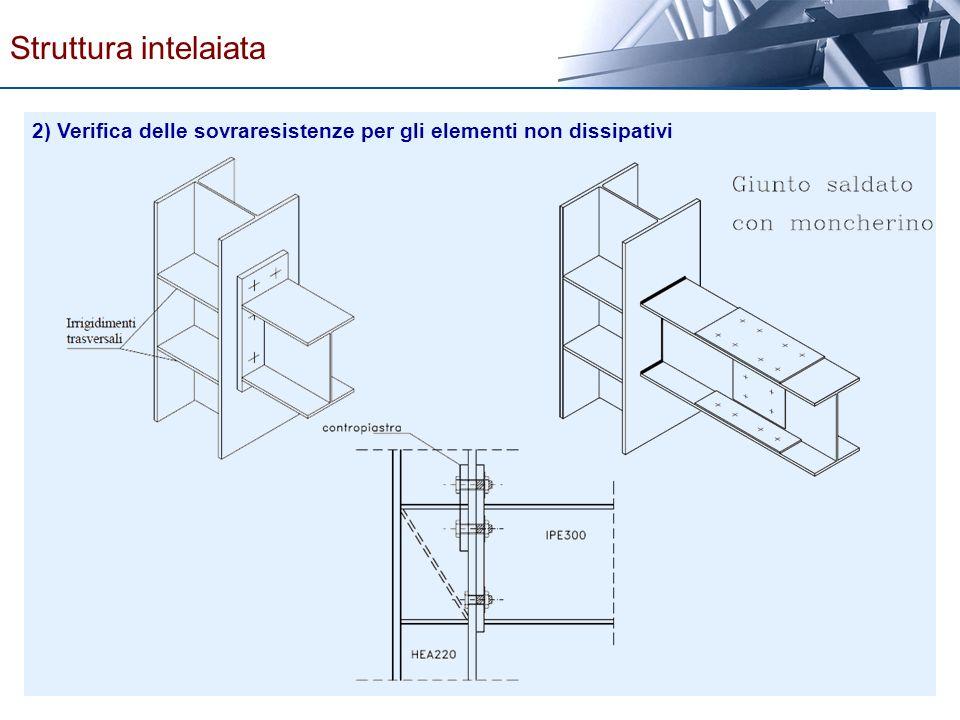 Struttura intelaiata 2) Verifica delle sovraresistenze per gli elementi non dissipativi
