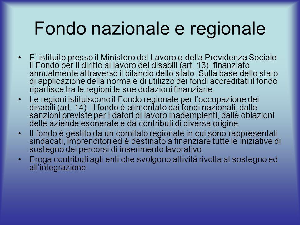 Fondo nazionale e regionale