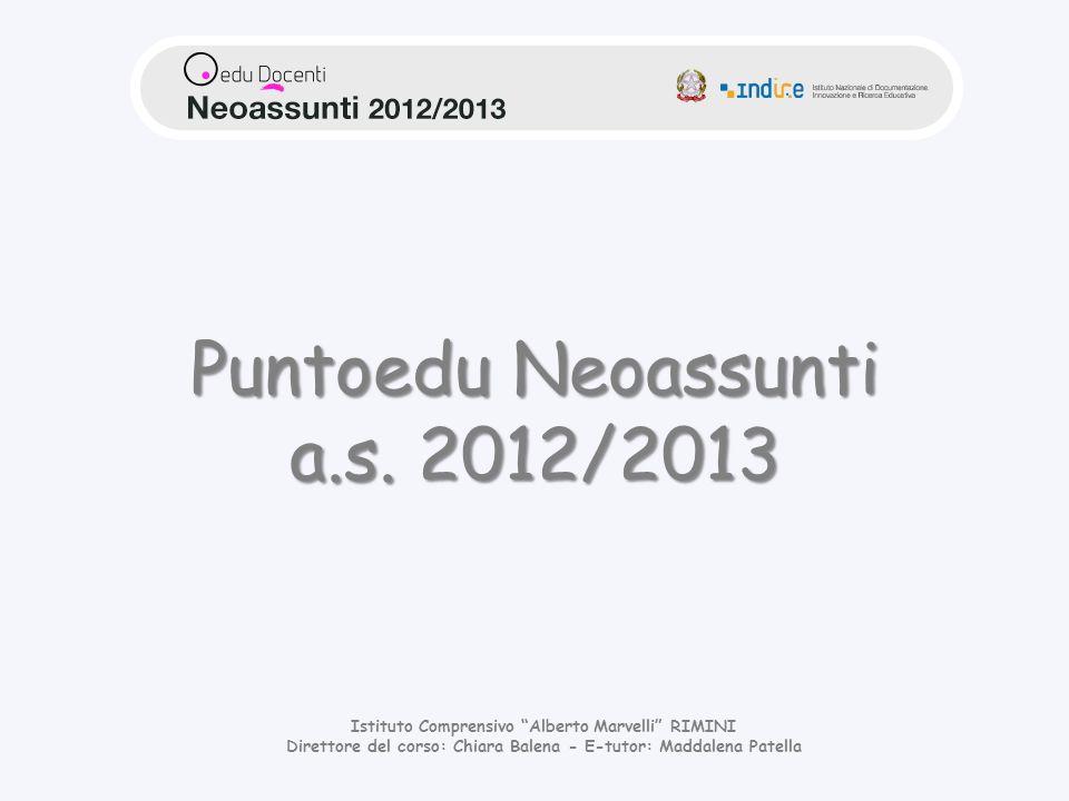 Puntoedu Neoassunti a.s. 2012/2013