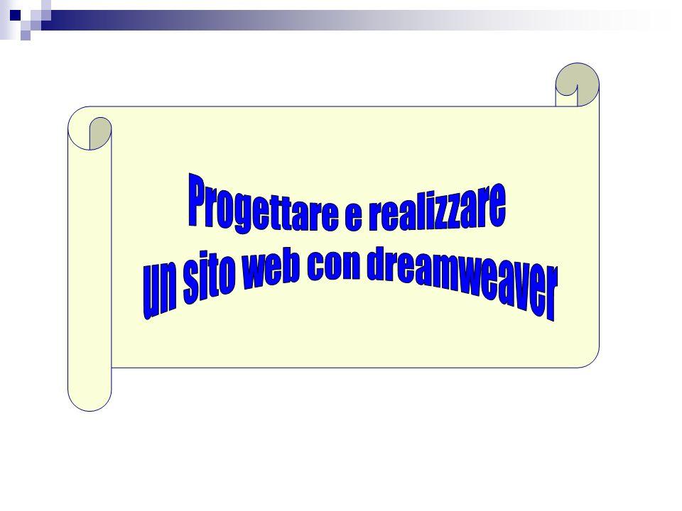 inizio Progettare e realizzare un sito web con dreamweaver
