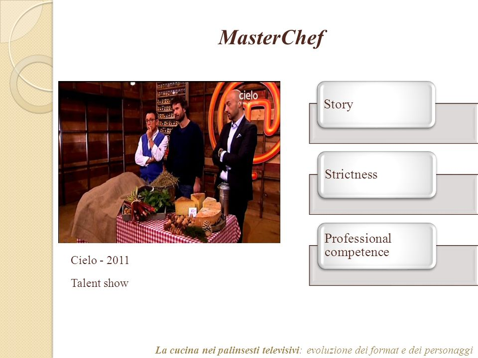 MasterChef Professional competence Strictness Story Cielo - 2011