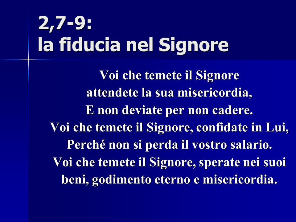 2,7-9: la fiducia nel Signore
