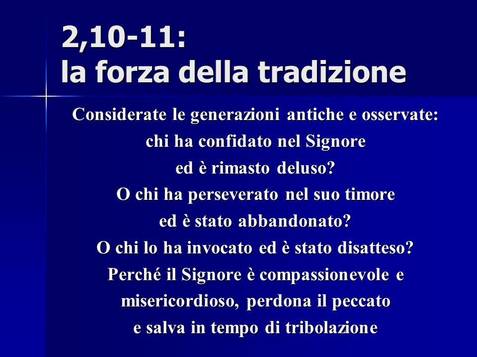 2,10-11: la forza della tradizione