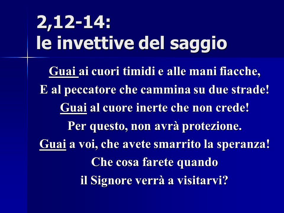 2,12-14: le invettive del saggio