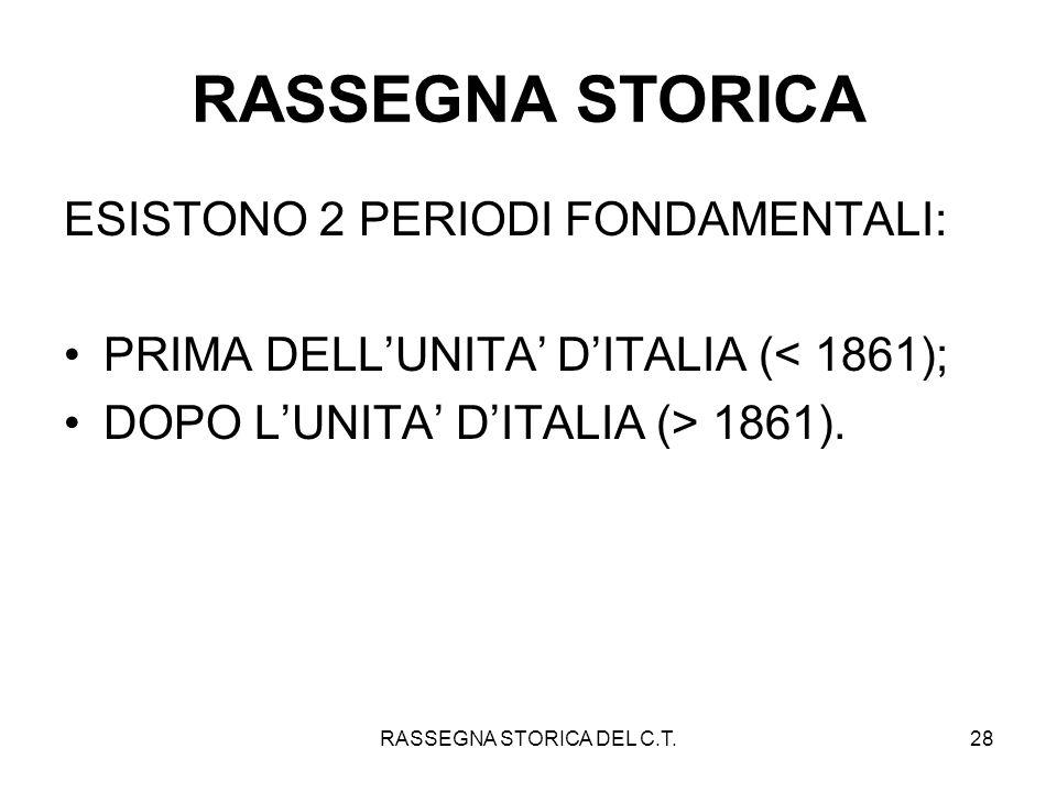 RASSEGNA STORICA DEL C.T.