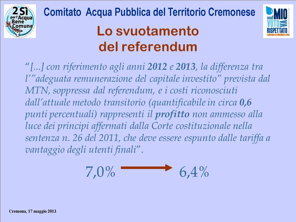 Lo svuotamento del referendum