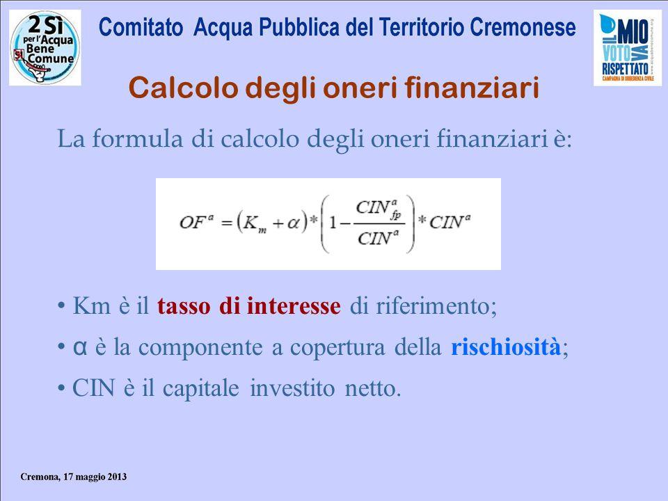 Calcolo degli oneri finanziari