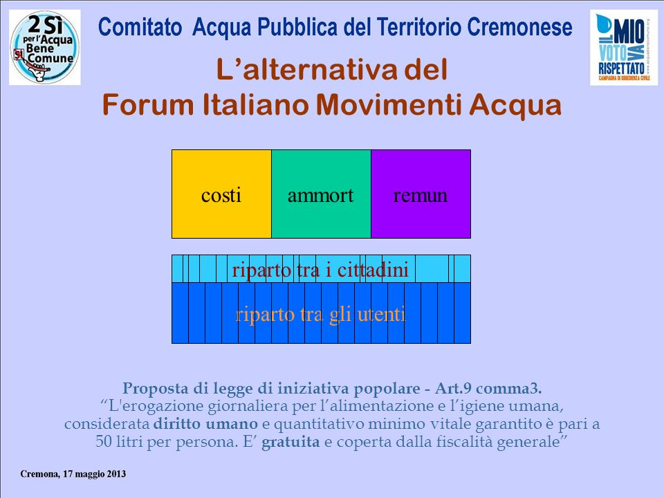 L'alternativa del Forum Italiano Movimenti Acqua