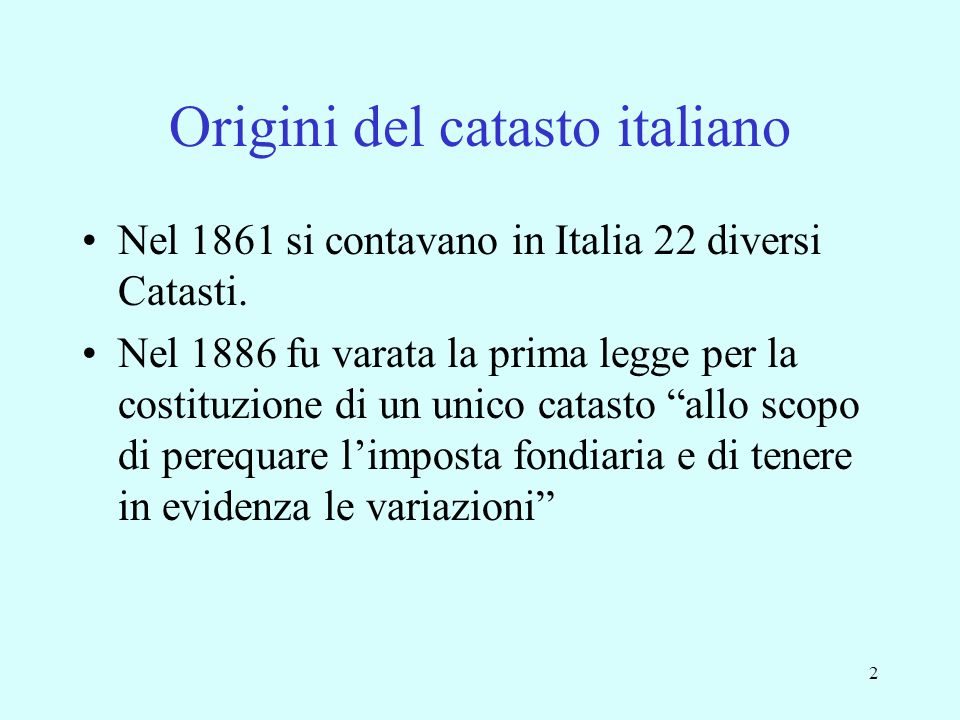 Origini del catasto italiano