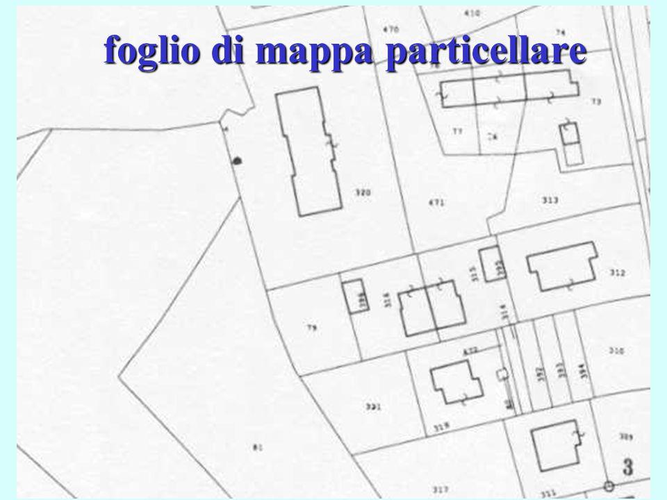 foglio di mappa particellare