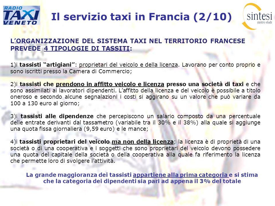Il servizio taxi in Francia (2/10)