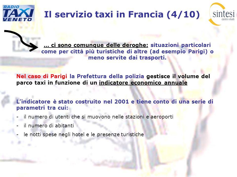 Il servizio taxi in Francia (4/10)