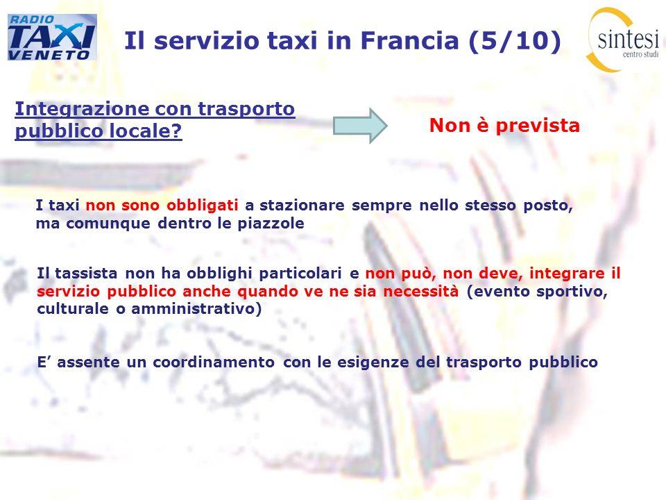 Il servizio taxi in Francia (5/10)
