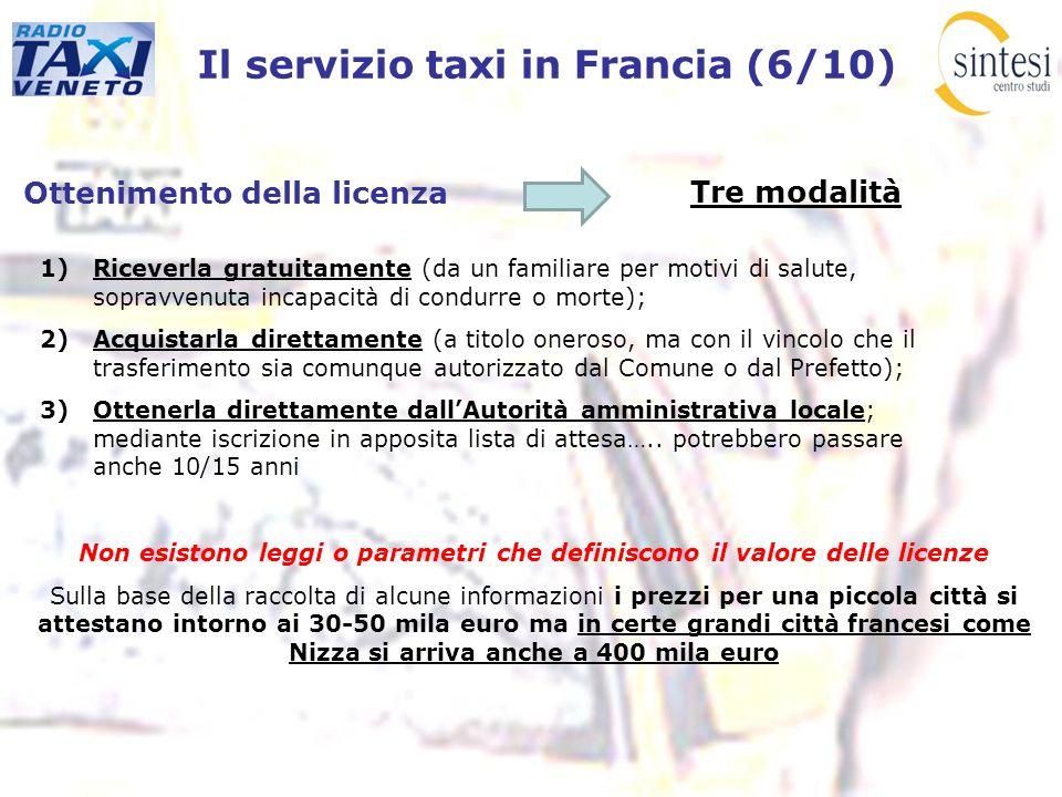 Il servizio taxi in Francia (6/10)