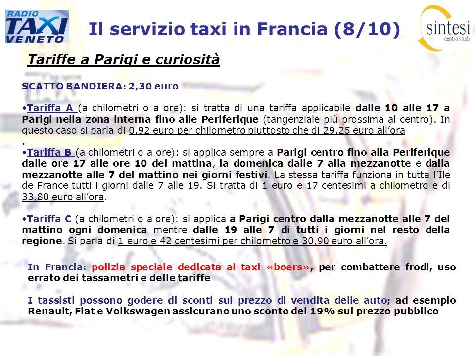 Il servizio taxi in Francia (8/10)