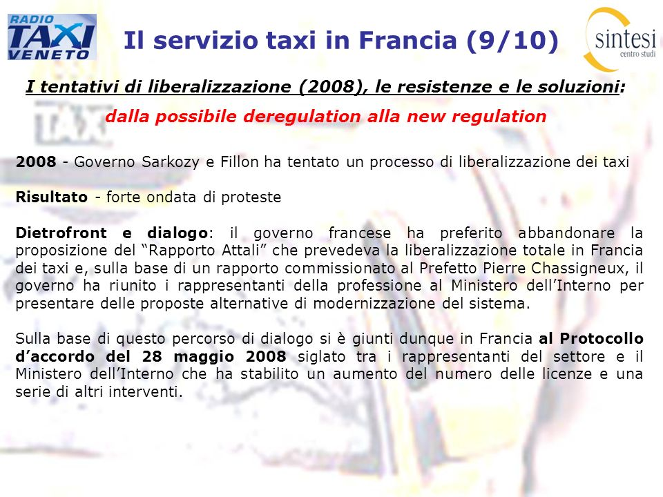 Il servizio taxi in Francia (9/10)