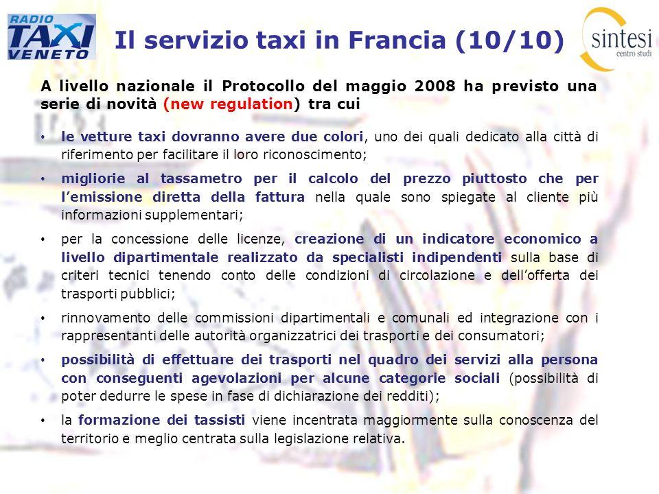Il servizio taxi in Francia (10/10)