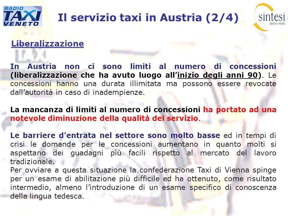 Il servizio taxi in Austria (2/4)