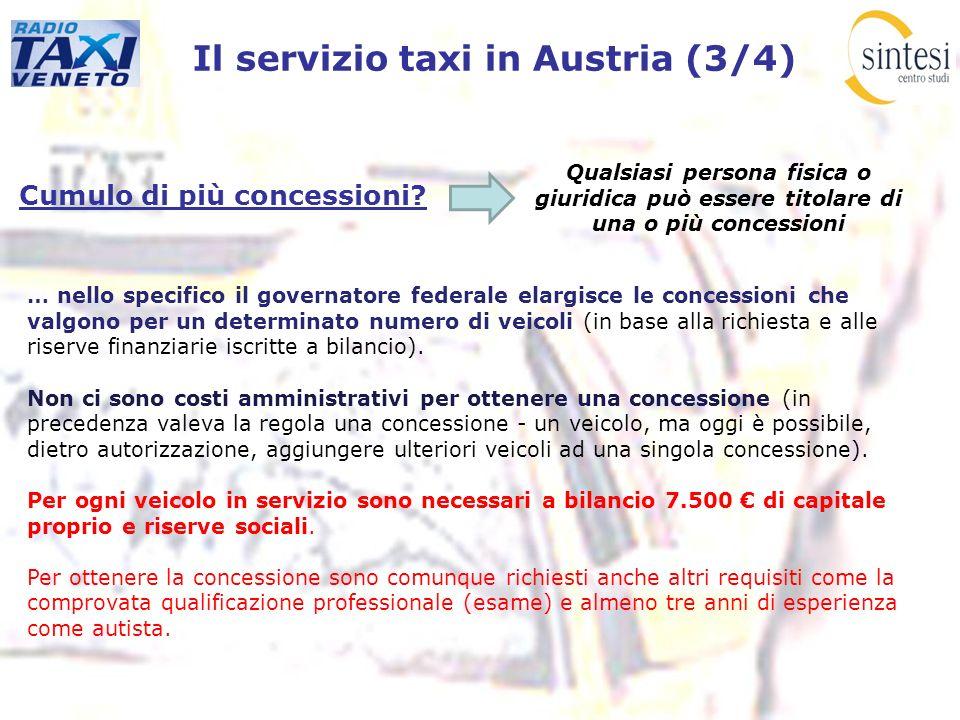 Il servizio taxi in Austria (3/4)