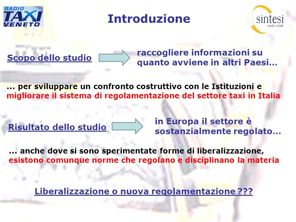 Liberalizzazione o nuova regolamentazione