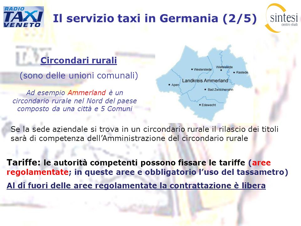 Il servizio taxi in Germania (2/5)