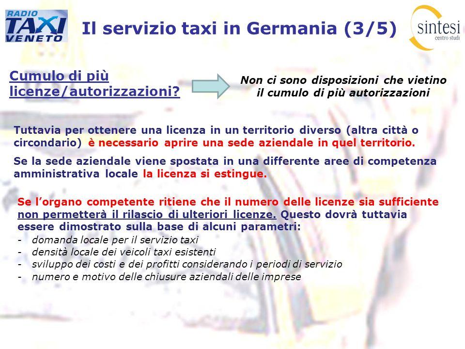 Il servizio taxi in Germania (3/5)
