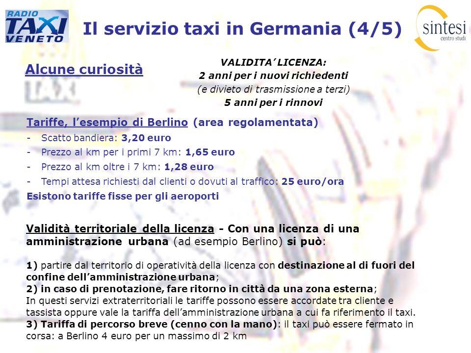Il servizio taxi in Germania (4/5) 2 anni per i nuovi richiedenti
