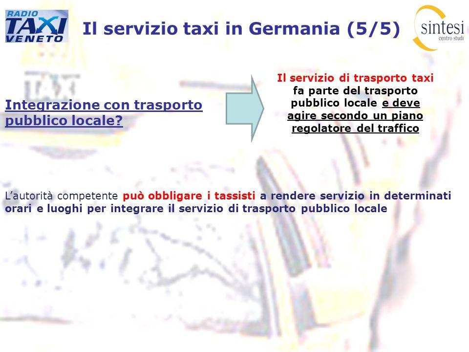 Il servizio taxi in Germania (5/5)