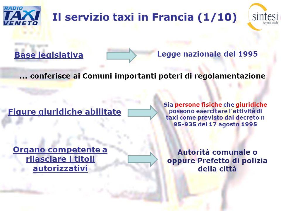 Il servizio taxi in Francia (1/10)