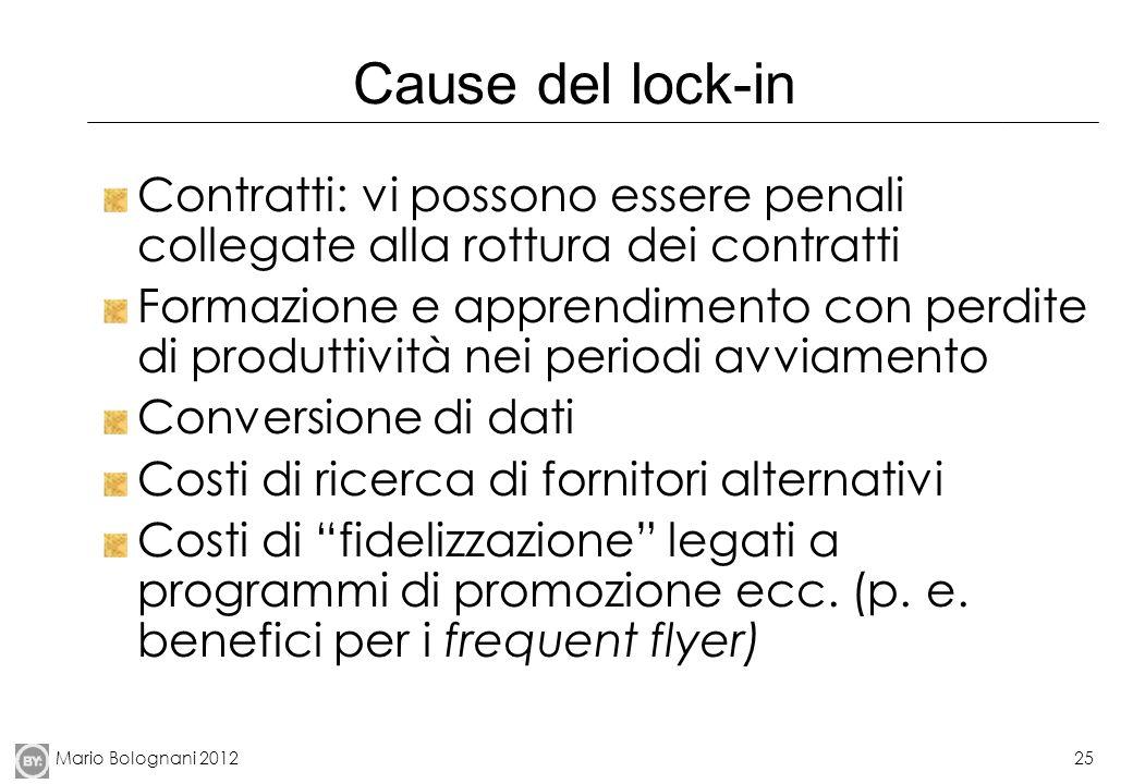 Cause del lock-in Contratti: vi possono essere penali collegate alla rottura dei contratti.
