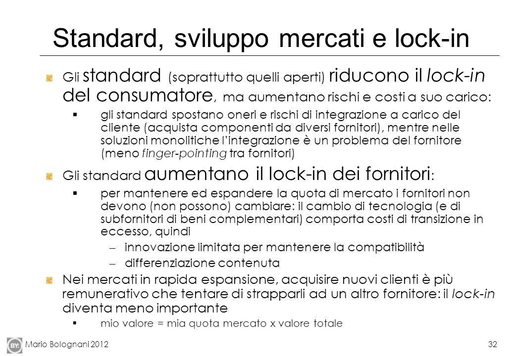 Standard, sviluppo mercati e lock-in