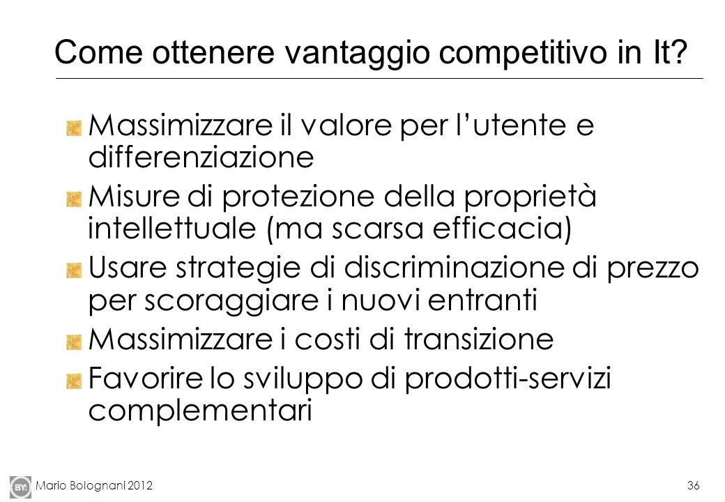 Come ottenere vantaggio competitivo in It