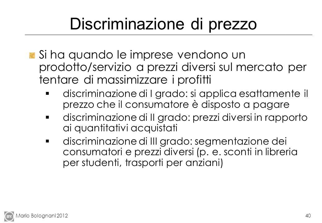 Discriminazione di prezzo