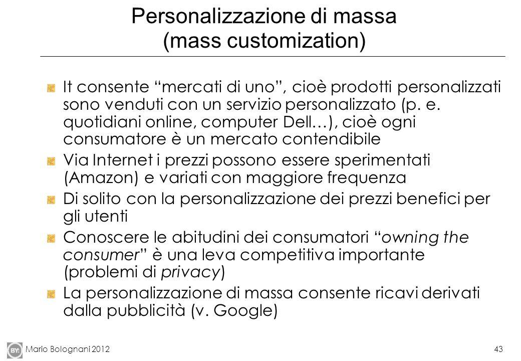 Personalizzazione di massa (mass customization)