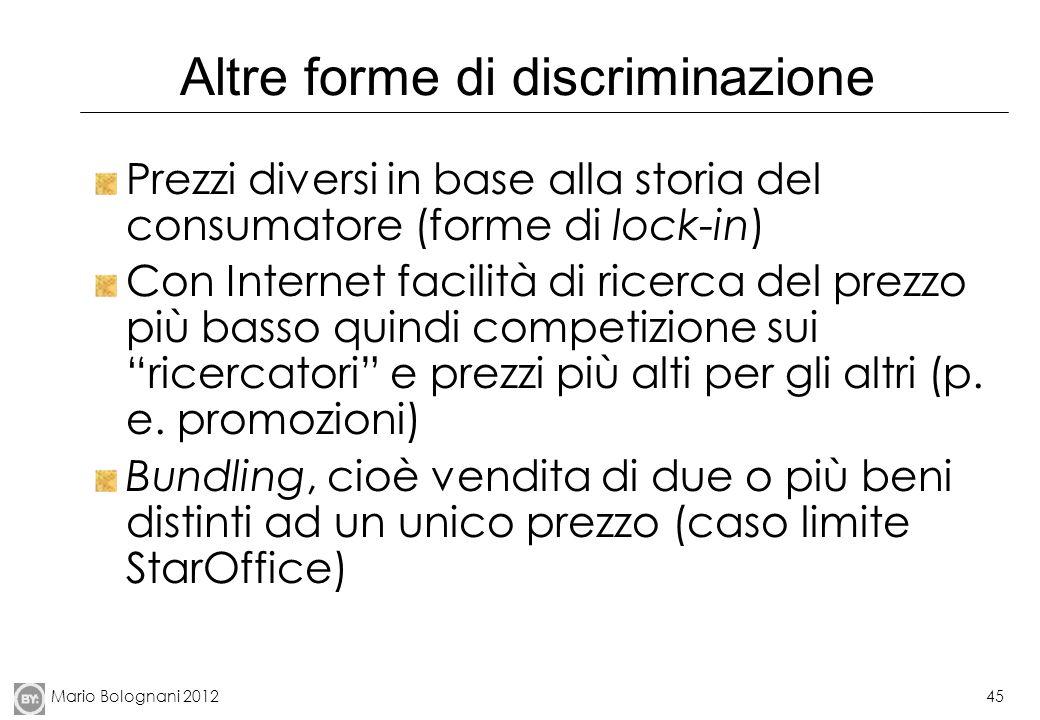 Altre forme di discriminazione
