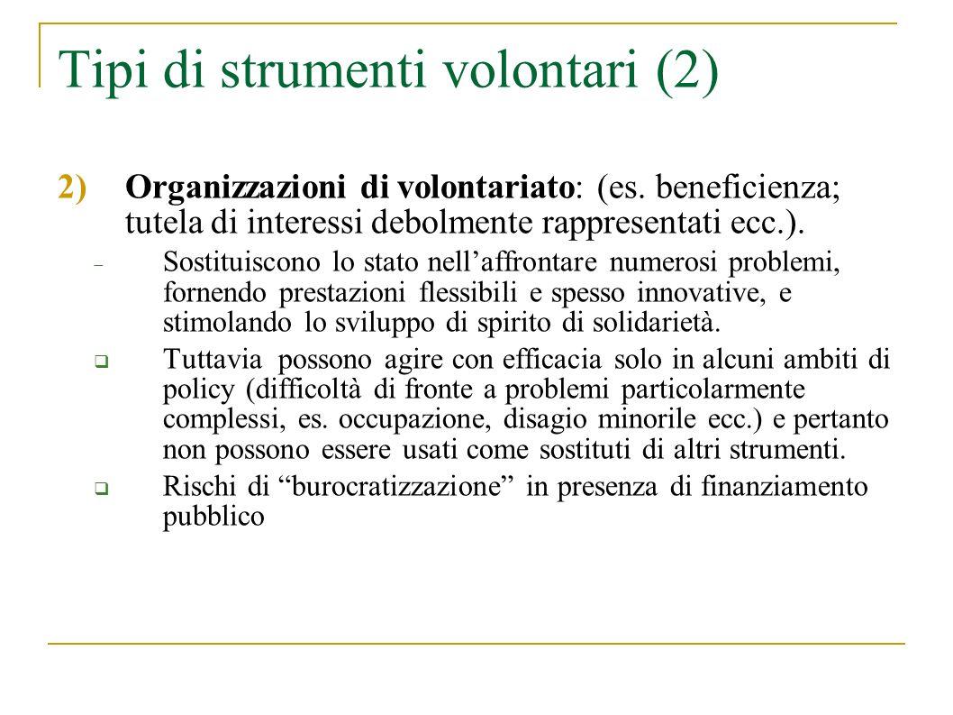 Tipi di strumenti volontari (2)