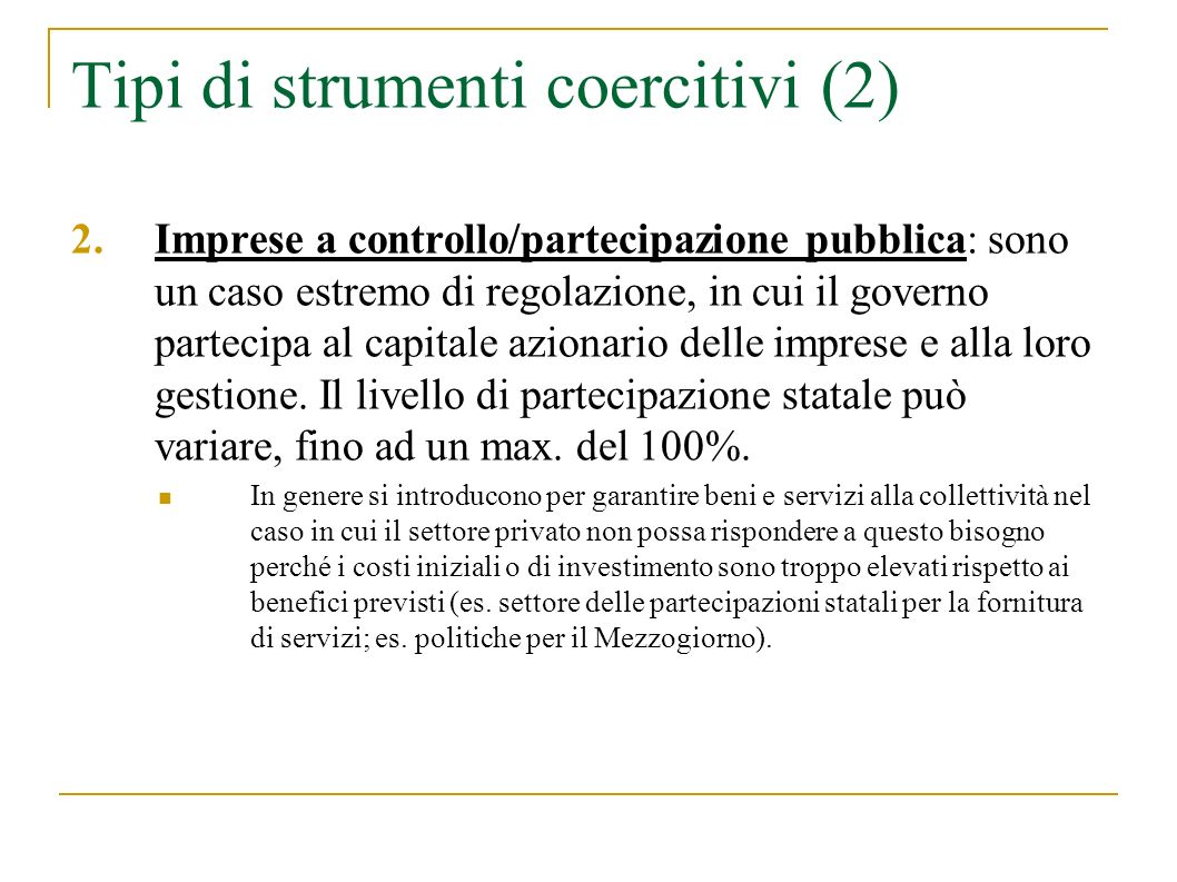 Tipi di strumenti coercitivi (2)