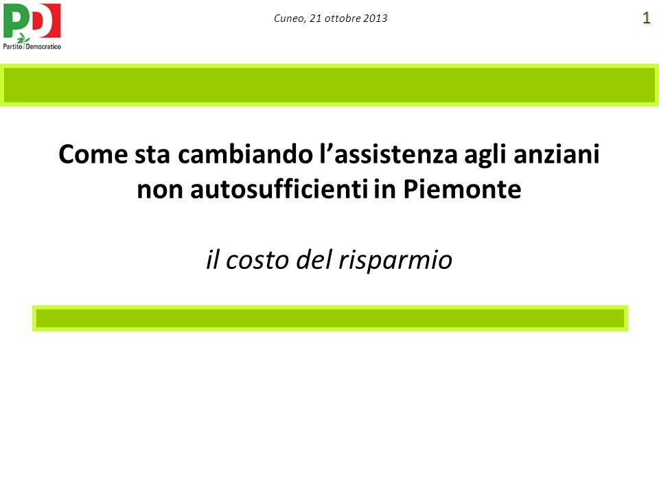 Come sta cambiando l'assistenza agli anziani non autosufficienti in Piemonte il costo del risparmio