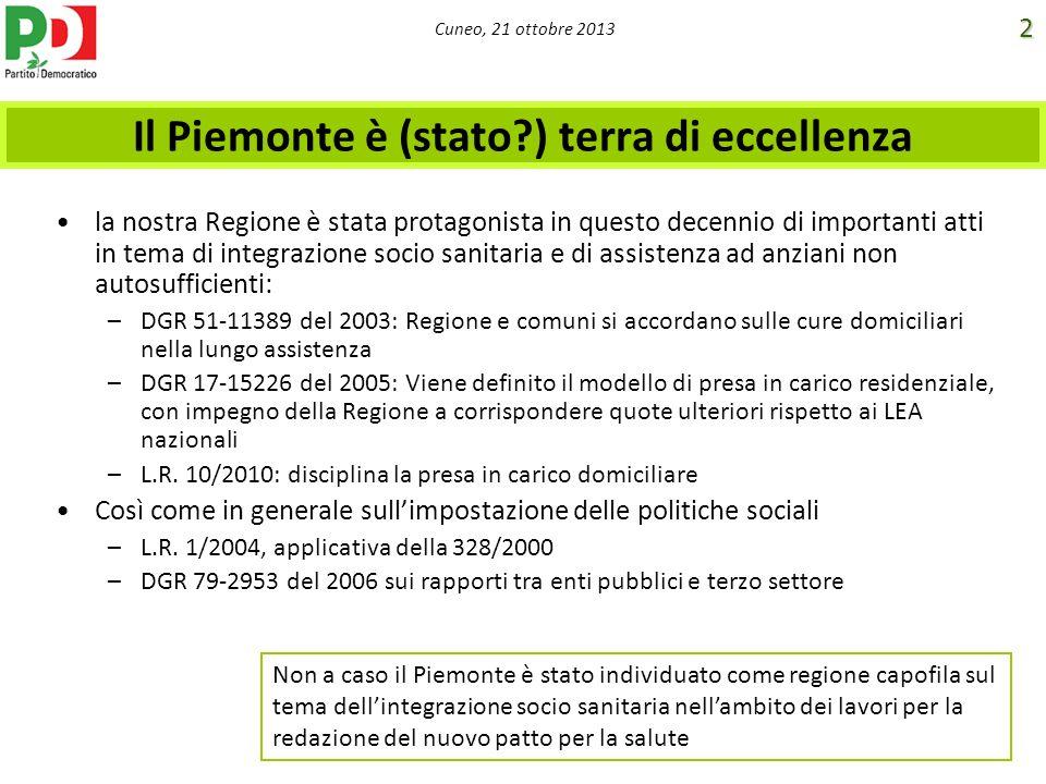 Il Piemonte è (stato ) terra di eccellenza