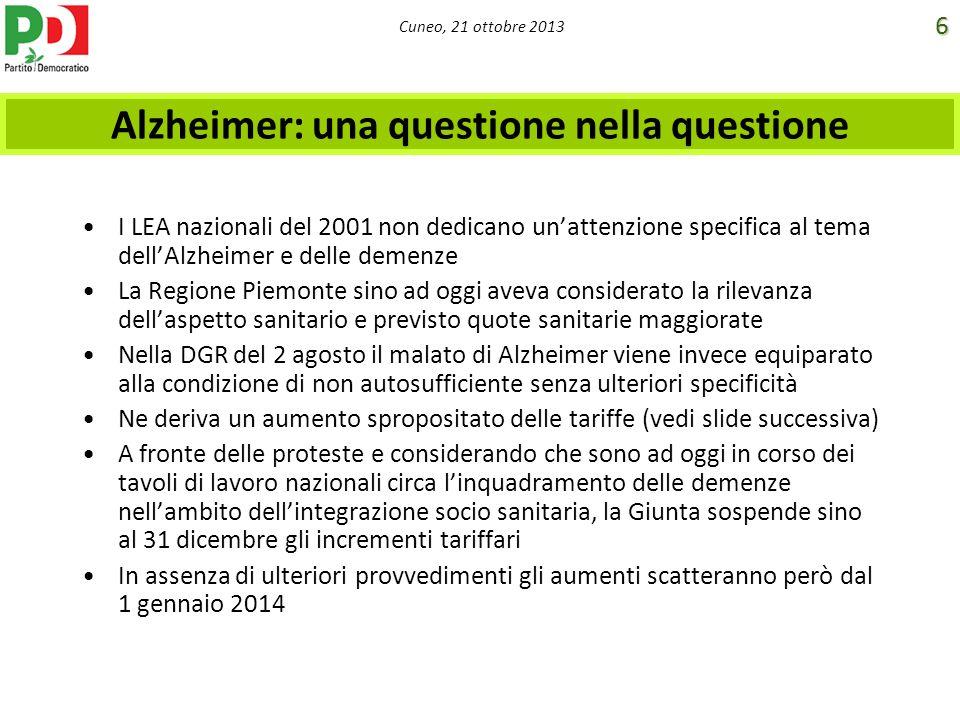 Alzheimer: una questione nella questione