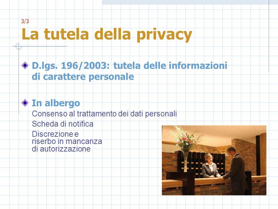 3/3 La tutela della privacy
