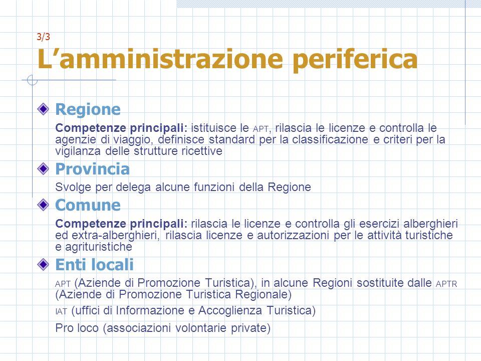 3/3 L'amministrazione periferica