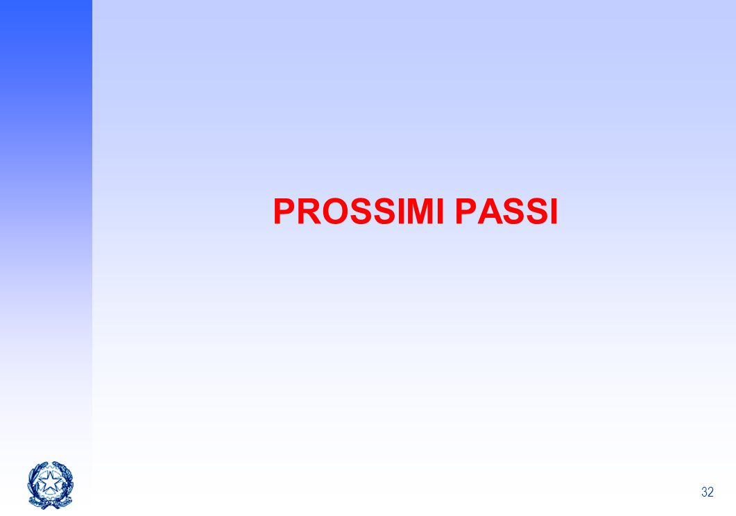 PROSSIMI PASSI