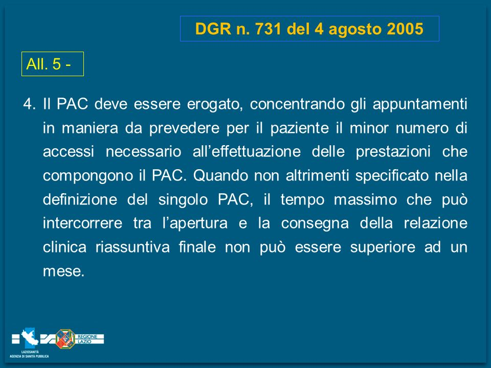 DGR n. 731 del 4 agosto 2005 All. 5 -