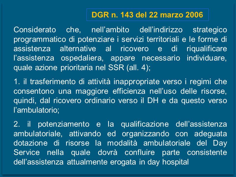 DGR n. 143 del 22 marzo 2006