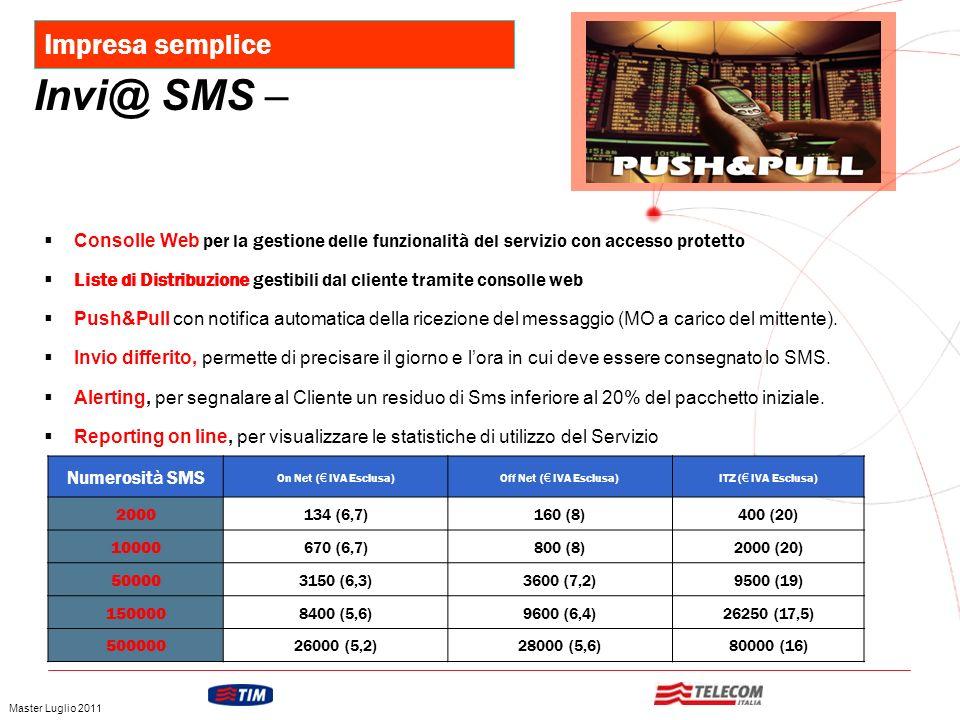 Invi@ SMS – Impresa semplice