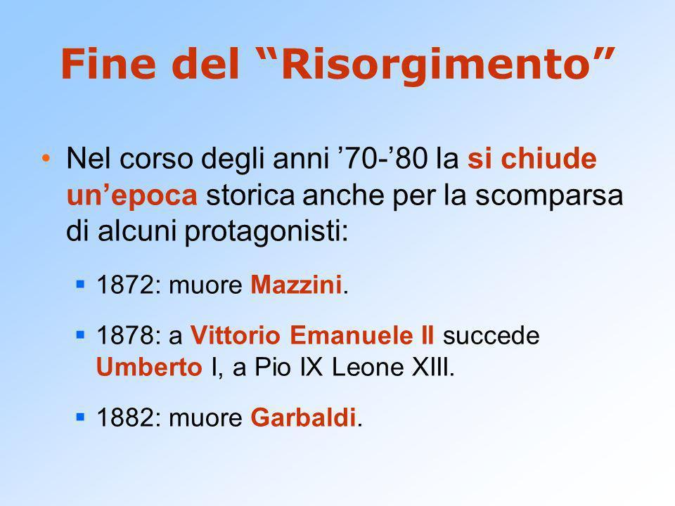 Fine del Risorgimento