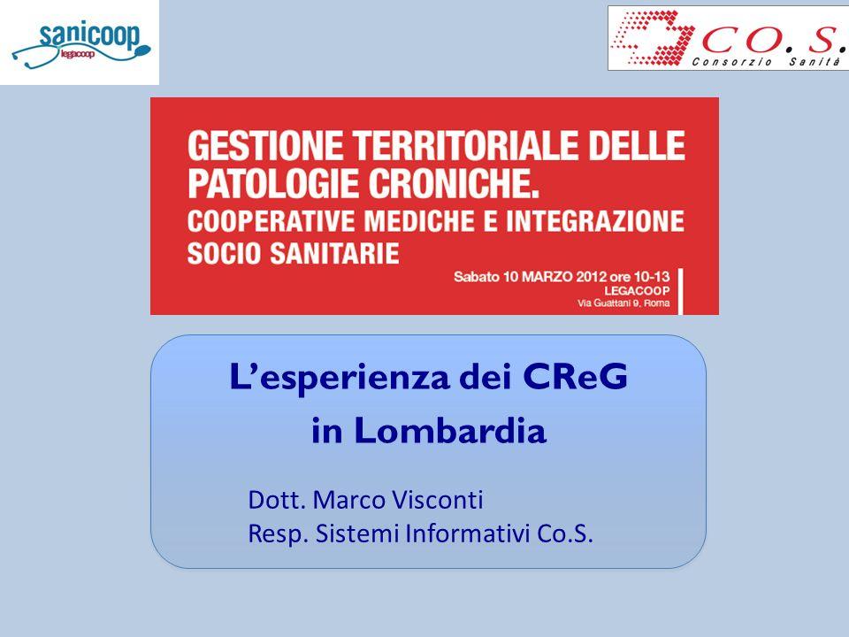 L'esperienza dei CReG in Lombardia