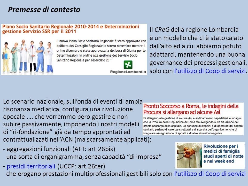 Premesse di contesto Il CReG della regione Lombardia